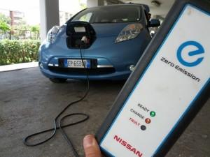 Nissan Leaf durante la ricarica